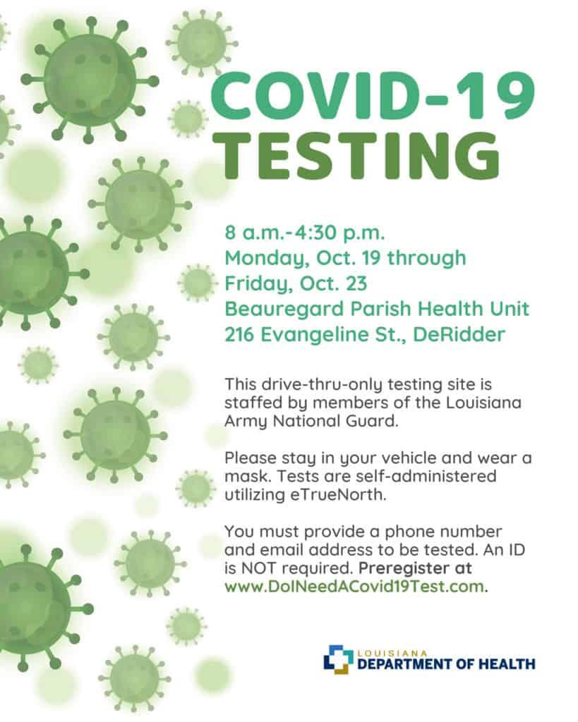DeRidder COVID-19 Testing